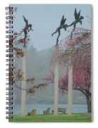 Philadelphia - Three Angels In Spring Spiral Notebook