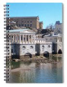 Philadelphia Waterworks And Art Museum Panorama Spiral Notebook