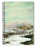 Philadelphia Winter Landscape Ca. 1830 - 1845 By Thomas Birch Spiral Notebook