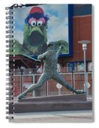 Phillies Steve Carlton Statue Spiral Notebook