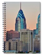 Philly At Sunset Spiral Notebook