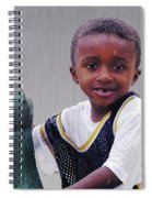 Philly Fountain Kid Spiral Notebook