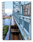 Philly From The Bridge Spiral Notebook