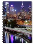Philly In Panoramic View Spiral Notebook