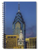 Philly Skyline-old And New Spiral Notebook