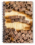 Philosophy Word Art Spiral Notebook