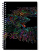 Phoenix Rising Galaxy Spiral Notebook