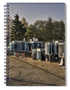 Phone Booth Graveyard Spiral Notebook