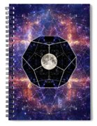 Photo Of The Moon And Sacred Geometry Spiral Notebook