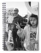Photography Homage Alfred Eisenstadt Hispanic Girl V For Victory Sign Anti Gulf War Rally Tucson Az Spiral Notebook