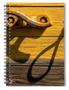 Pi Theta Shadows - Dock Cleat And Rope Spiral Notebook
