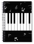 Piano And Music Background Spiral Notebook