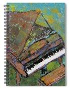Piano Aqua Wall Spiral Notebook