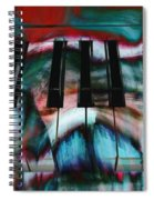 Piano Colors Spiral Notebook