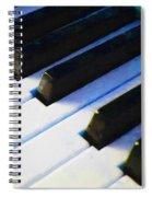 Piano Keys . V2 . Blue Spiral Notebook