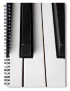 Piano Keys Close Up Spiral Notebook