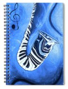 Piano Keys In A Saxophone Blue - Music In Motion Spiral Notebook