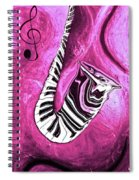 Piano Keys In A Saxophone Hot Pink - Music In Motion Spiral Notebook