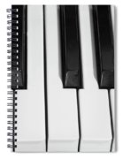 Piano Octave  Bw Spiral Notebook