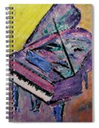 Piano Pink Spiral Notebook