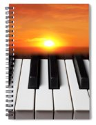 Piano Sunset Spiral Notebook
