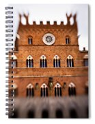 Piazza Del Campo Tuscany Italy Spiral Notebook