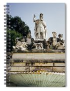 Piazza Del Popolo Fountain Spiral Notebook