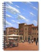Piazza Della Cisterna San Gimignano Tuscany Spiral Notebook