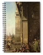Piazza Di San Marco And The Colonnade Of The Procuratie Nuove Spiral Notebook