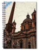 Piazza Navona At Sunset, Rome Spiral Notebook