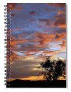 Picacho Peak Sunset II Spiral Notebook