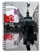 Piccadilly In The Rain Spiral Notebook