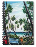 Picking Coconuts .. Mayaro Spiral Notebook