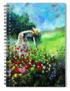 Picking Flower Spiral Notebook