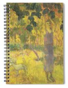 Picking Fruit From A Tree Spiral Notebook