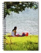 Picnic And Fishing Spiral Notebook