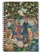 Picnic By The Inlet Spiral Notebook