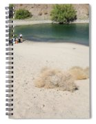 Picnic On Lake Mohave Spiral Notebook