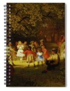 Picnic Party In The Woods Spiral Notebook