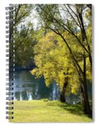 Picnic Spot On Spokane River Spiral Notebook
