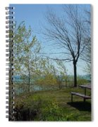 Picnic Table By The Lake Photo Spiral Notebook