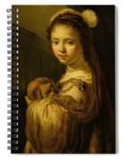 Picture Of A Young Girl Spiral Notebook