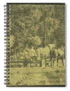 Picture Of Amish Boy In Book Spiral Notebook