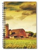 Picturesque North Dakota Farm Spiral Notebook