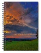 Picturesque Rural Sunset Spiral Notebook