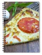 Piece Of Margarita Pizza With Fresh Ingredients Spiral Notebook