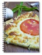 Piece Of Margarita Pizza With Ingredients Spiral Notebook