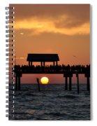 Pier 60 Clearwater Beach - Watching The Sunset Spiral Notebook