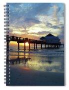 Pier 60 Sunset Spiral Notebook