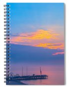 Pier Before Sunrise Spiral Notebook